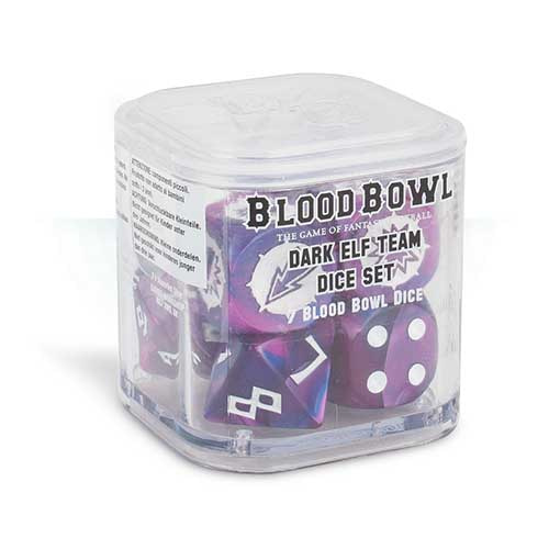 Blood Bowl Dark Elf Team Dice Set