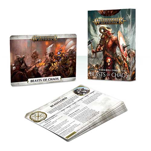 Pre-Order Warscroll Cards: Beasts of Chaos