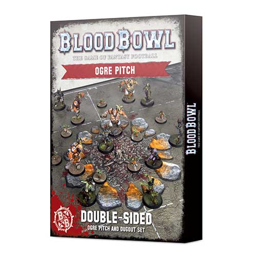 Pre-Order Blood Bowl Ogre Team Pitch & Dugouts