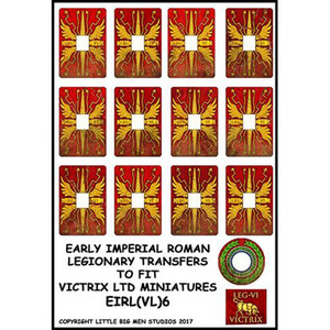 Early Imperial Roman Legionary Shield Transfers VI Victrix