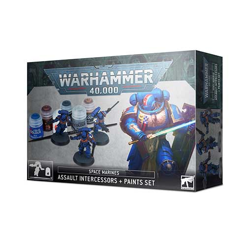 Primaris Assault Intercessor + Paint Set